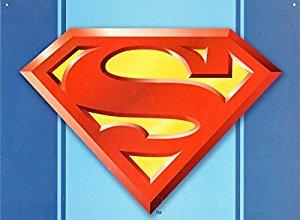 Superman logo tin sign home