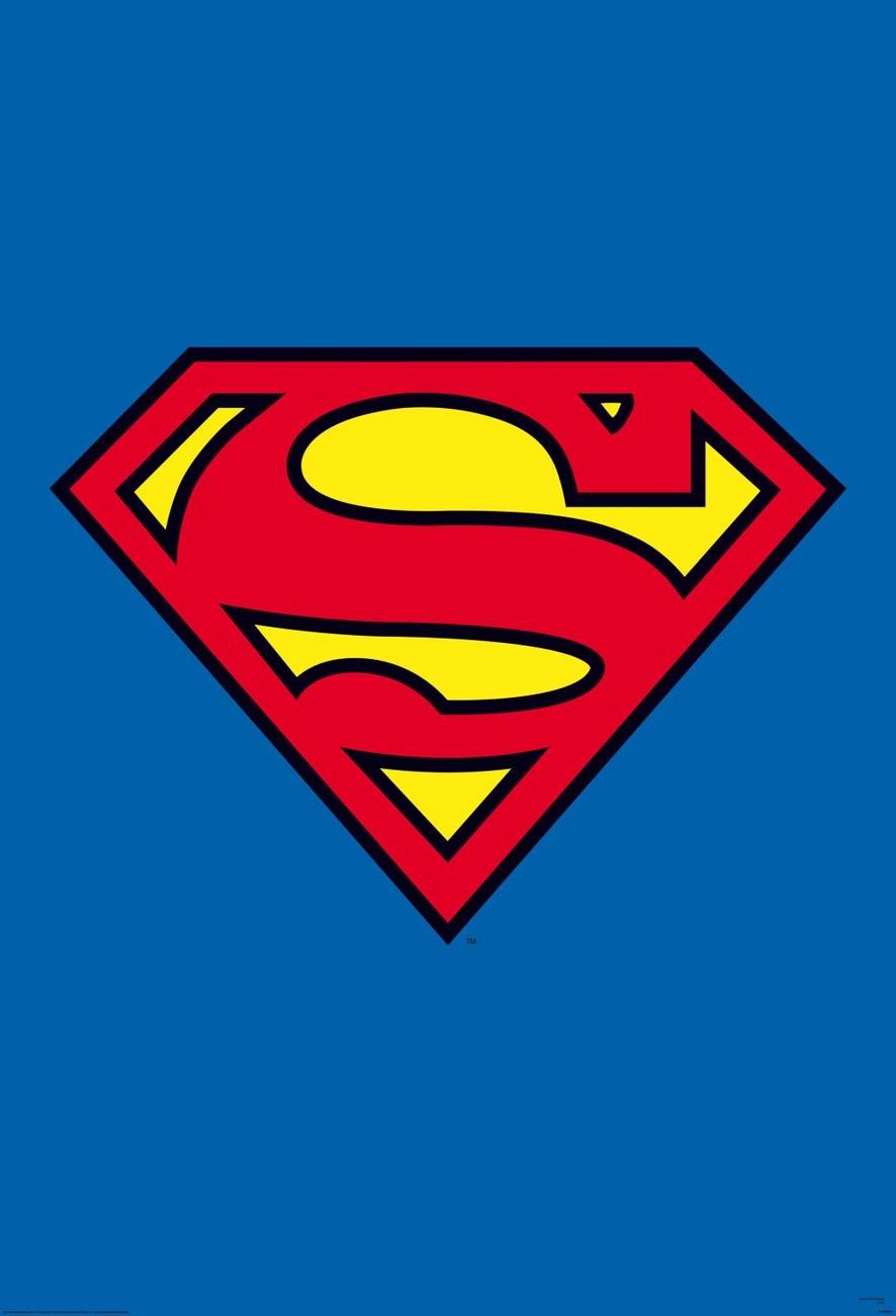 Superman logo wall mural buy at europosters