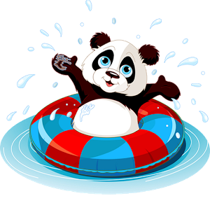 Swimming pool games clipart