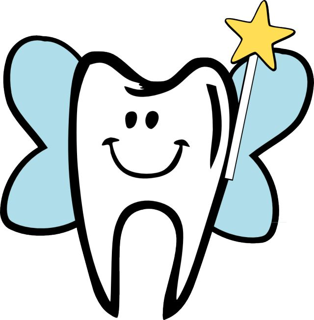 Tooth clip art images on appliques cutting