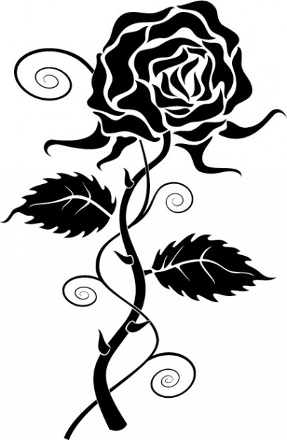 Top black rose clip art clipart blog
