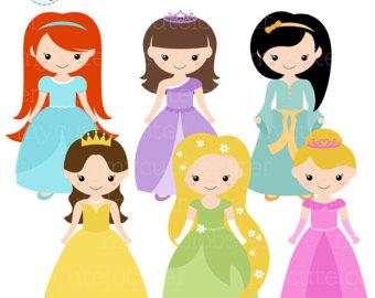 Top princesses clip art free clipart image 2