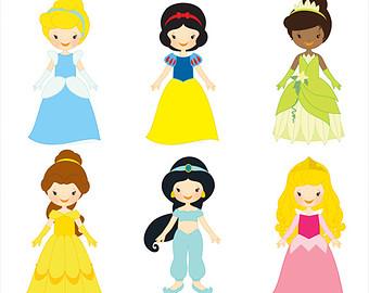 Top princesses clip art free clipart image 5