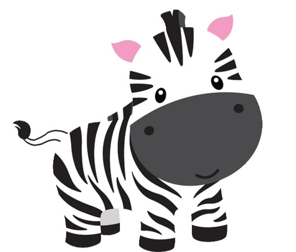 Top shower zebra clipart print baby drawing