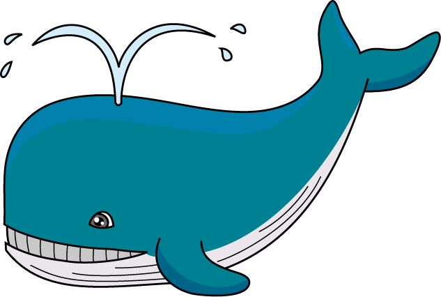 Top whale clip art free clipart image