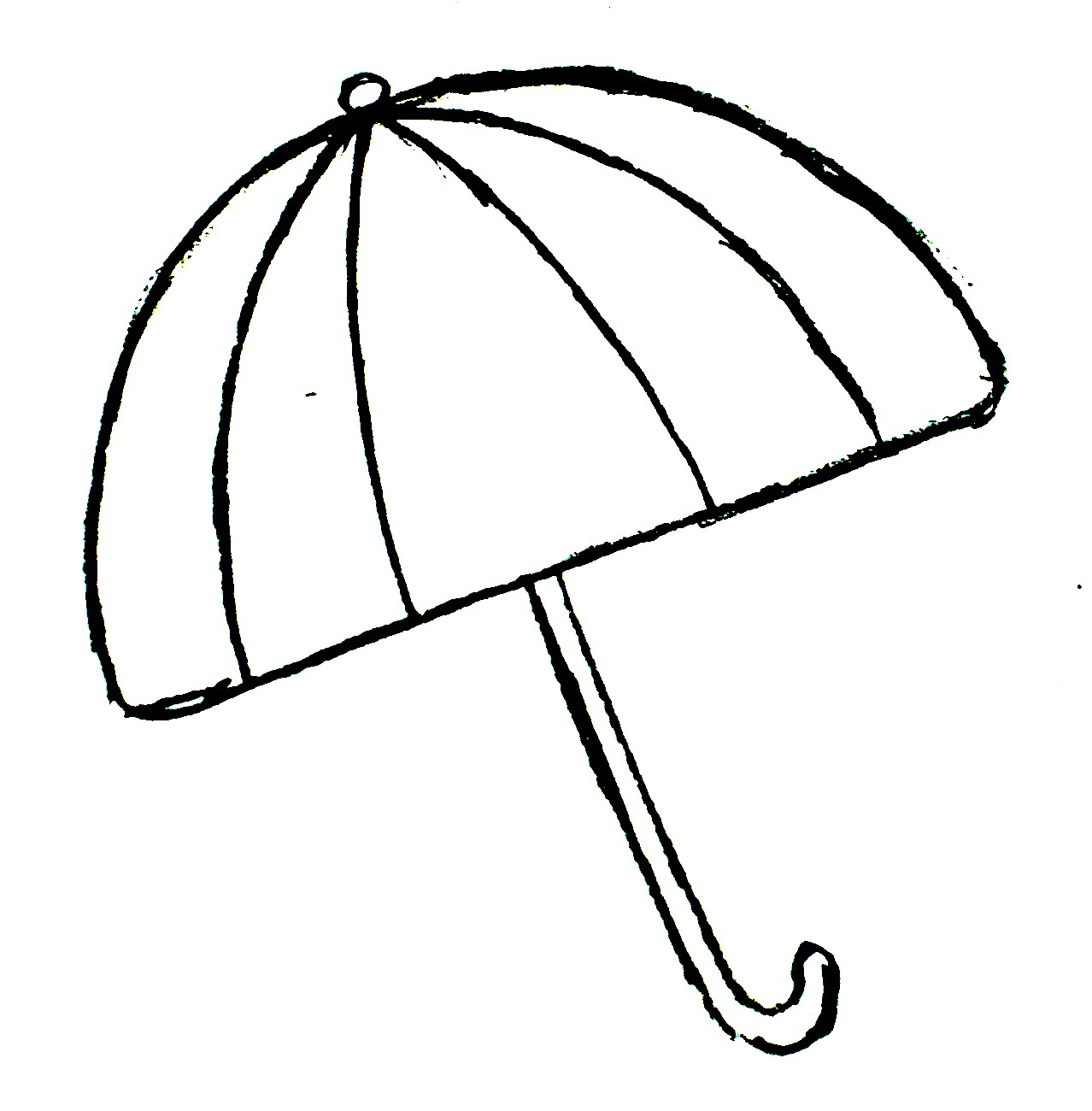 Umbrella black and white beach umbrella clipart