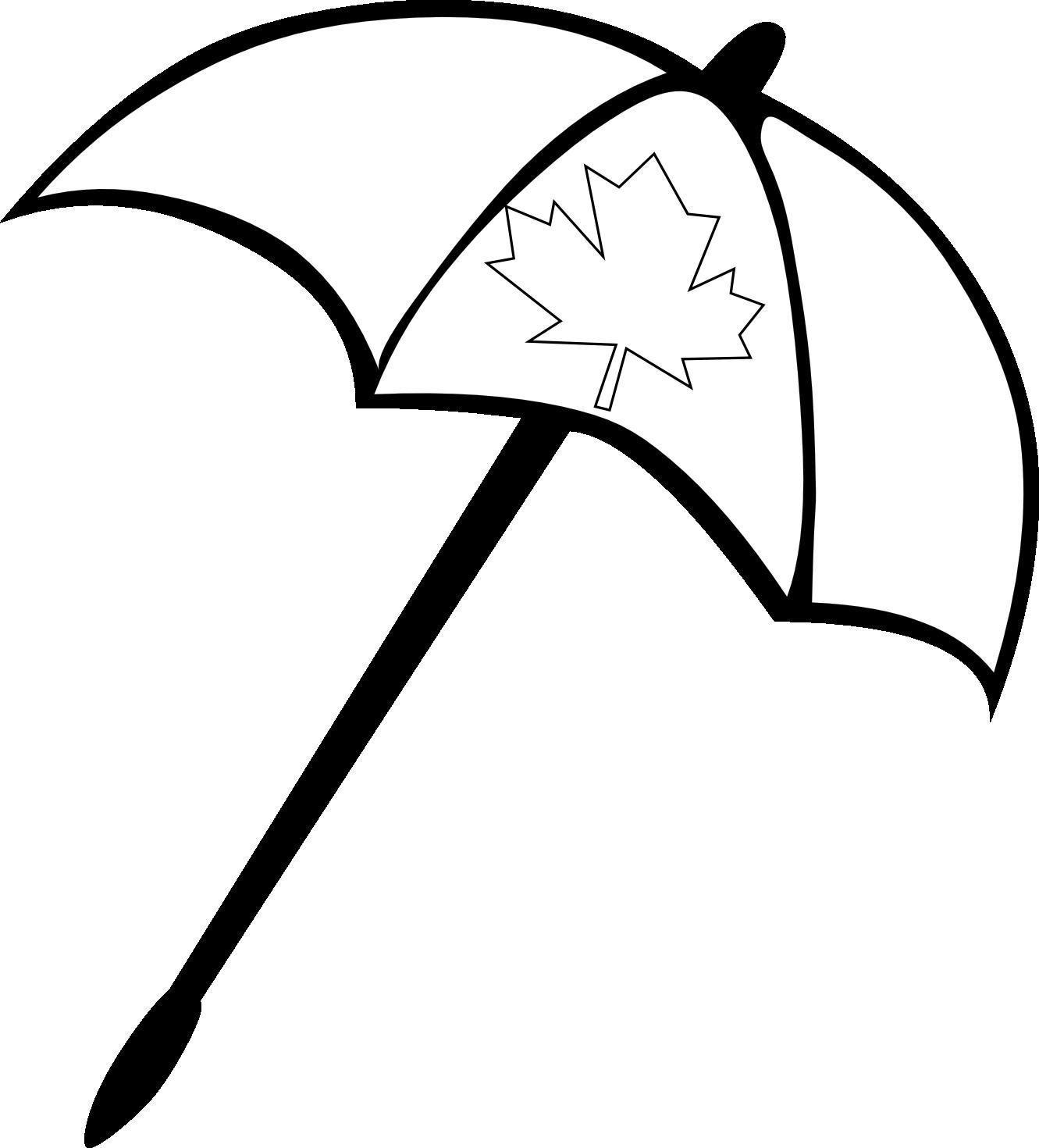 Umbrella black and white umbrella clipart 2