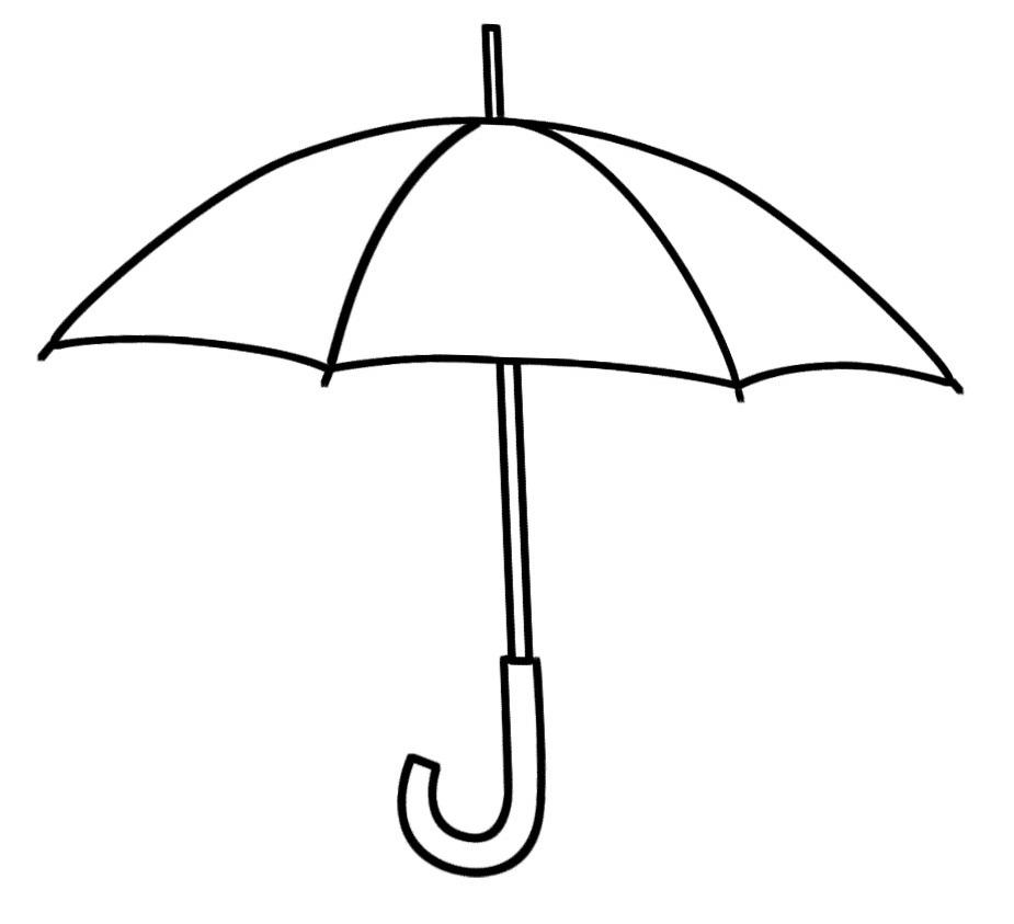 Umbrella black and white umbrella clipart outline clipartpost