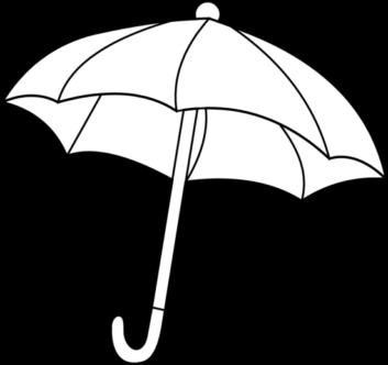 Umbrella clipart black white pencil and in color umbrella