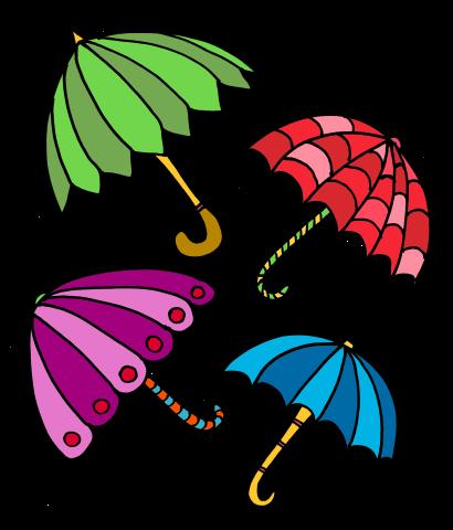 Umbrella clipart seven pencil and in color umbrella
