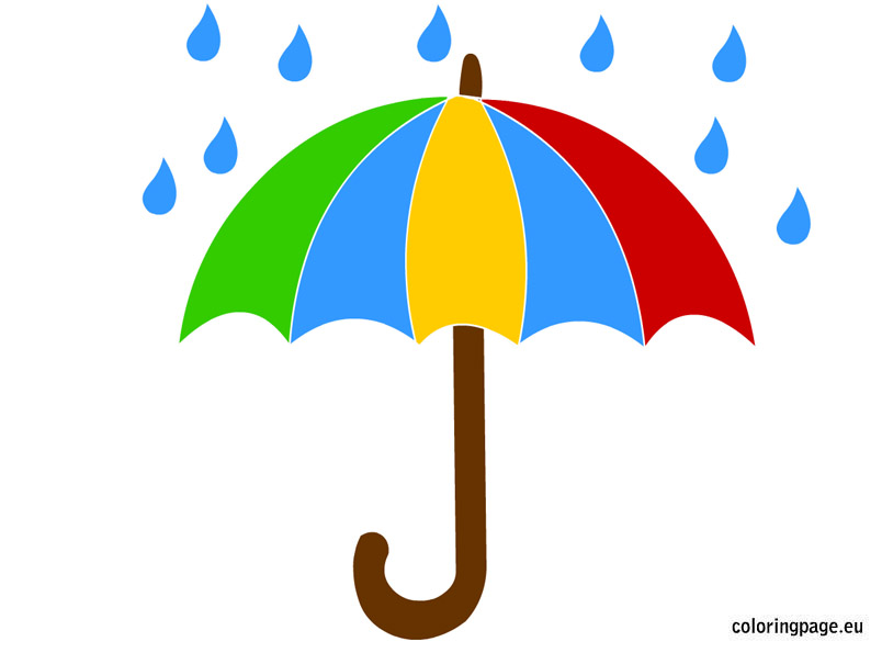 Umbrella clipart umbrella rain pencil and in color