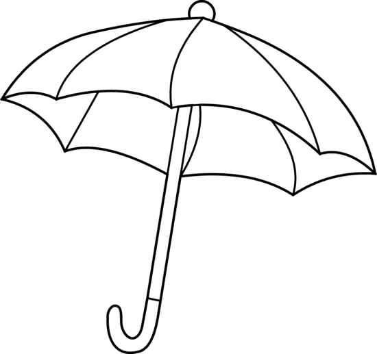 Umbrella coloring page free clip art