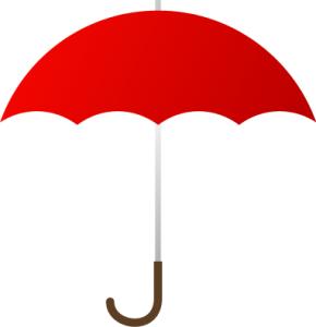 Umbrella red clip art download
