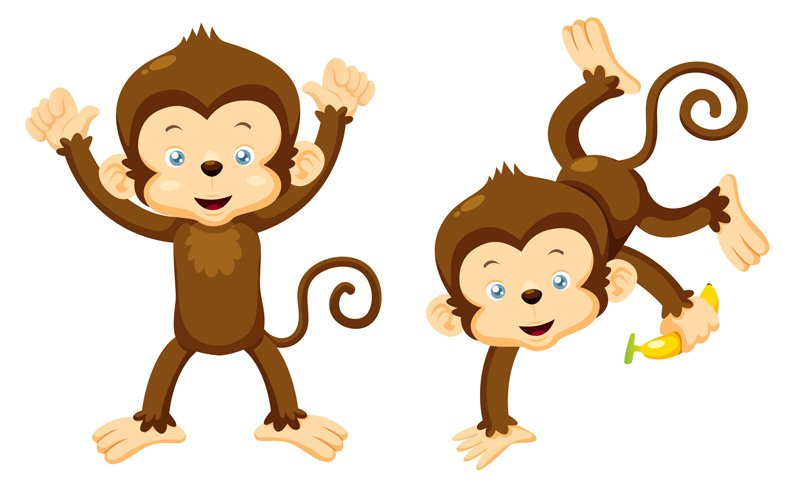 Upside down hanging monkey clipart free clipartpost