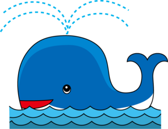 Whale clipart ble pencil and in color whale