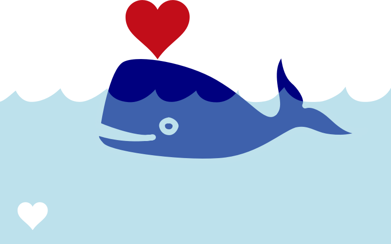Whale free to use clip art