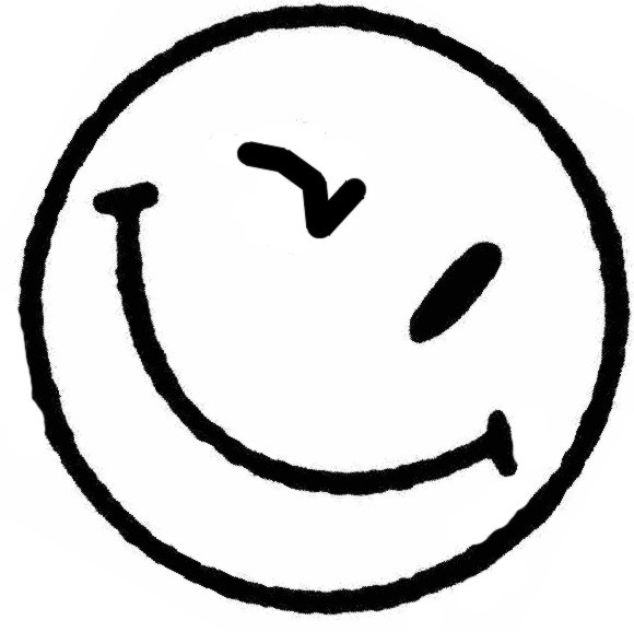 Wink happy face clipart image