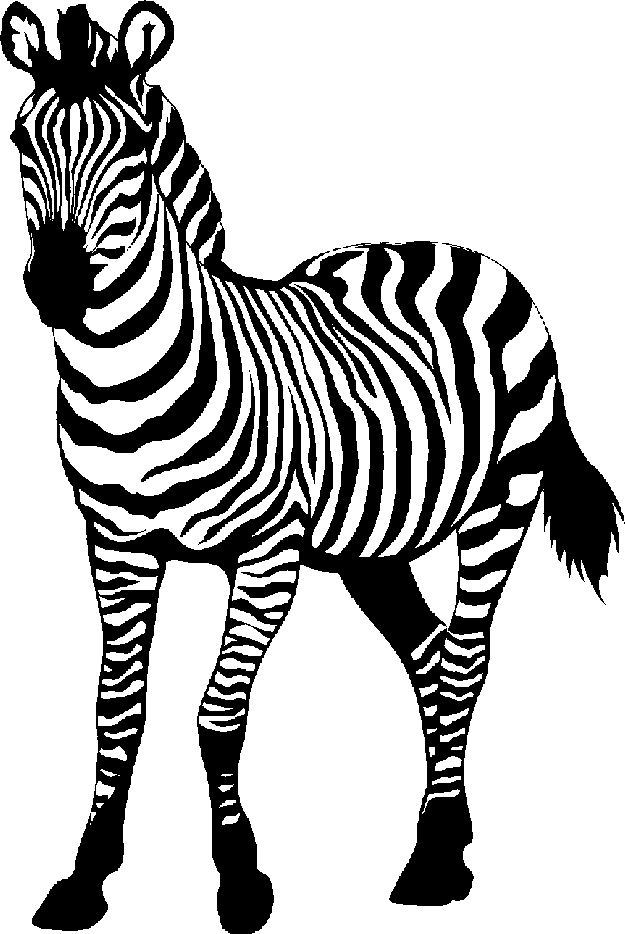 Zebra clip art black and white free clipart images