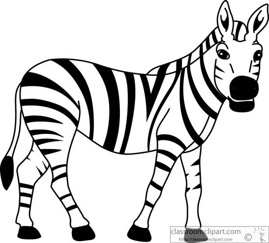 Zebra clipart black and white letters example