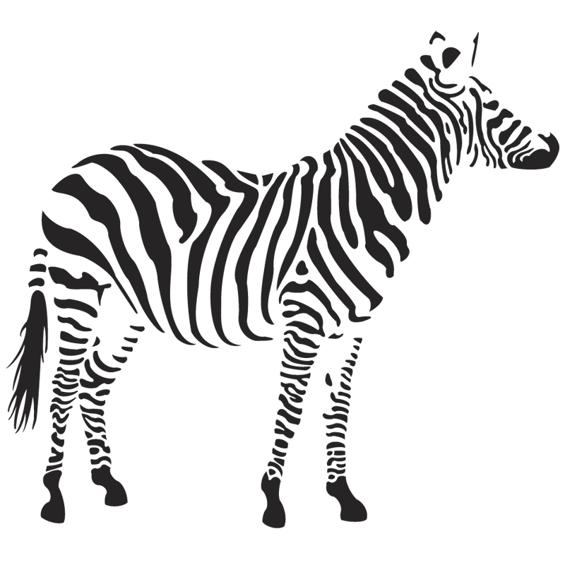 Zebra clipart front view pencil and in color zebra