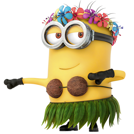 Beautiful hula girl clipart minion symbols emoticons