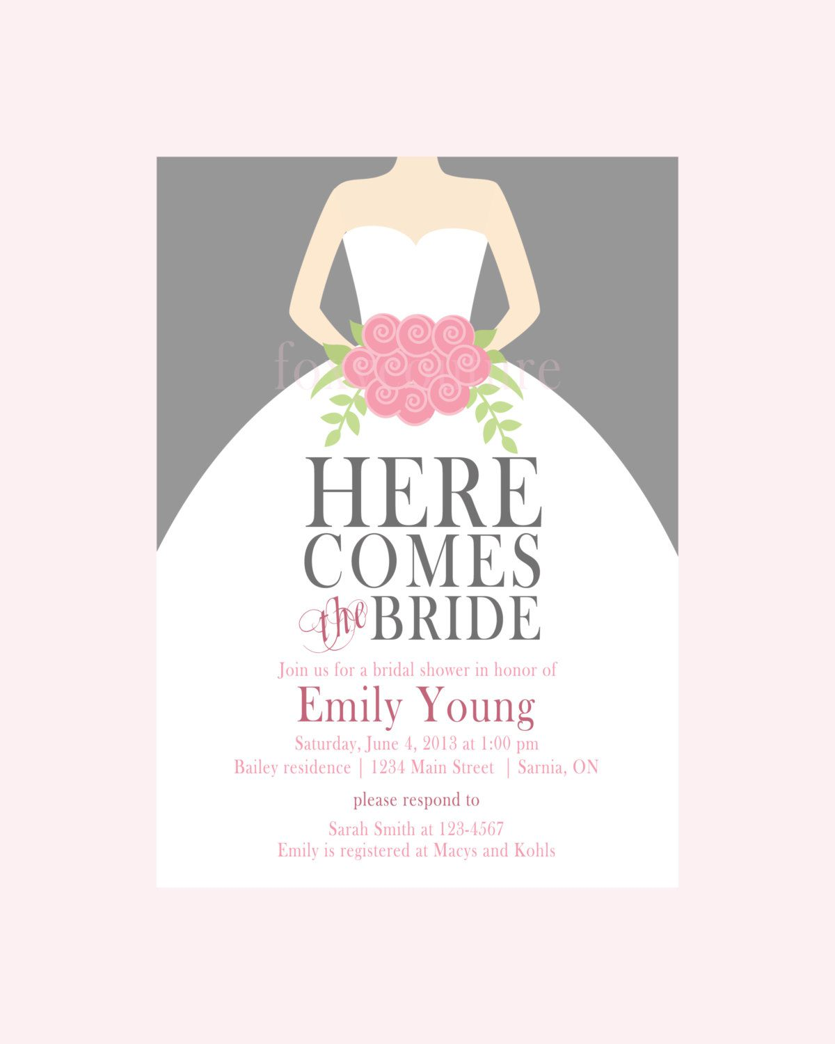 Bridal shower invitation clip art