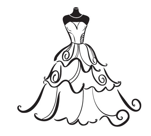 Bridal shower shower clipart black and white