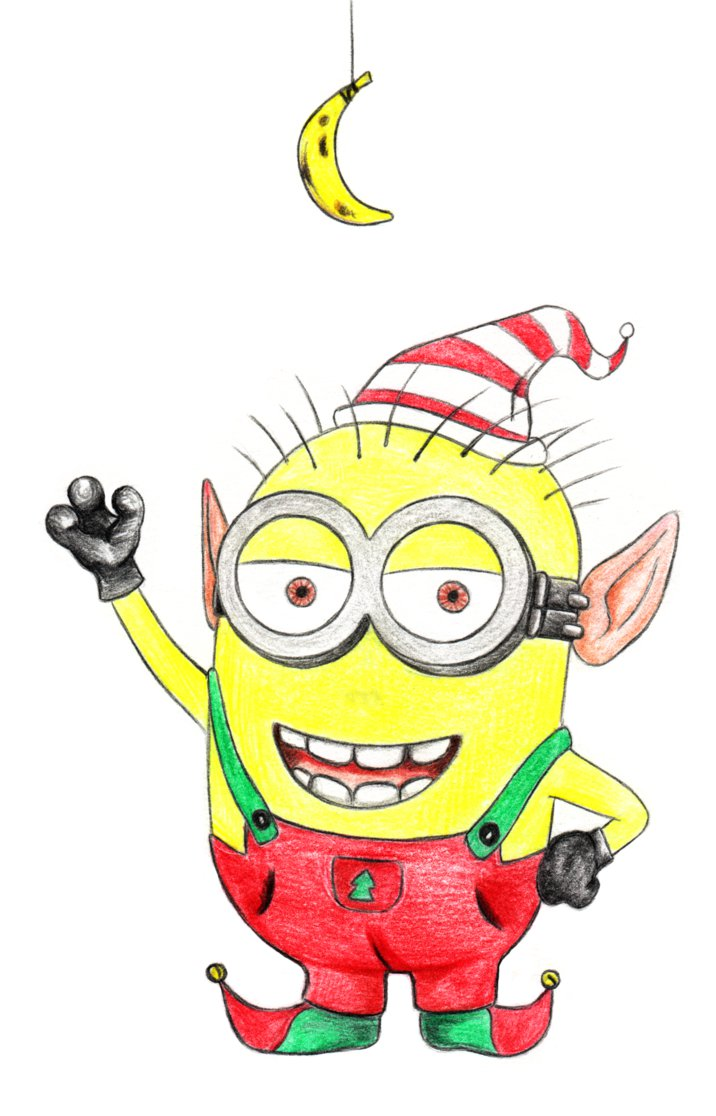 Christmas minion clipart