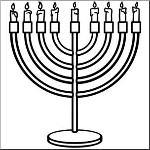 Clip art hanukkah menorah