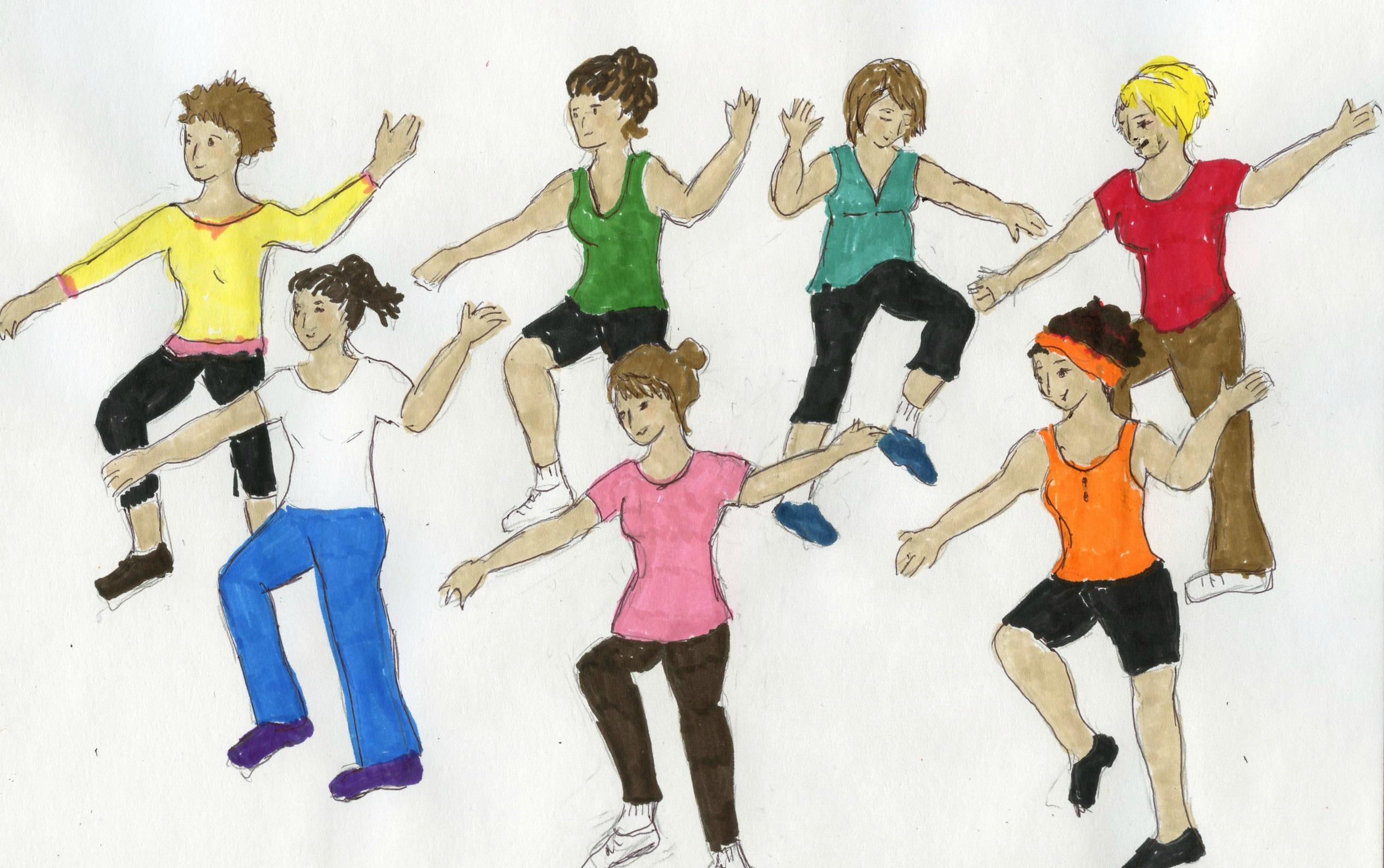 Clip art zumba dance
