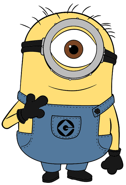 Despicable me clipart minion bob pencil and in color despicable