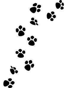 Dog paw print cat paw print clip art
