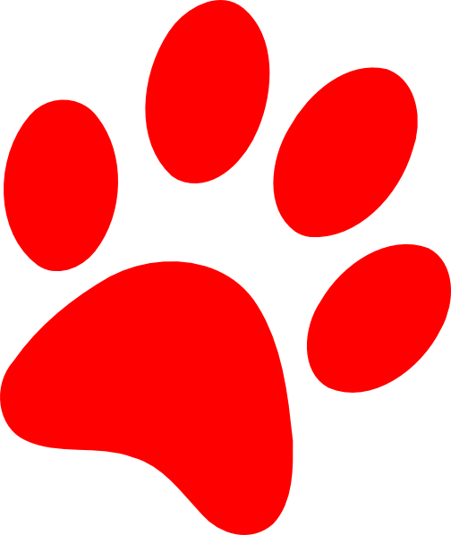 Dog paw print red puppy paw print clip art at vector clip art