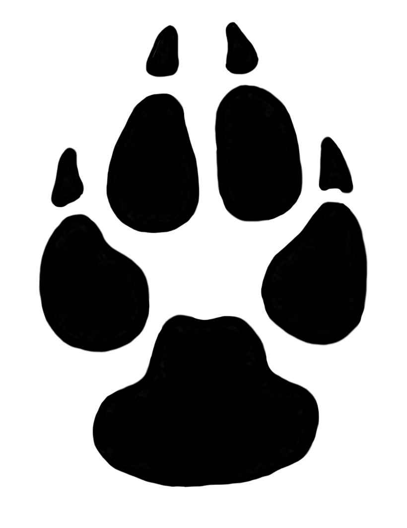 Dog paw prints domestic dog cliparts free download clip art 2