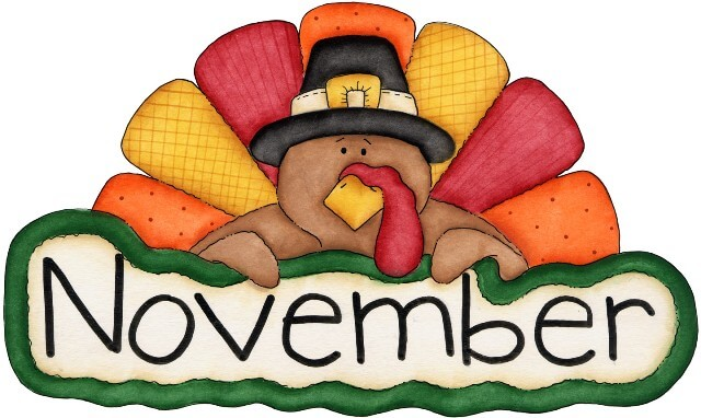Free clipart for november clipartxtras