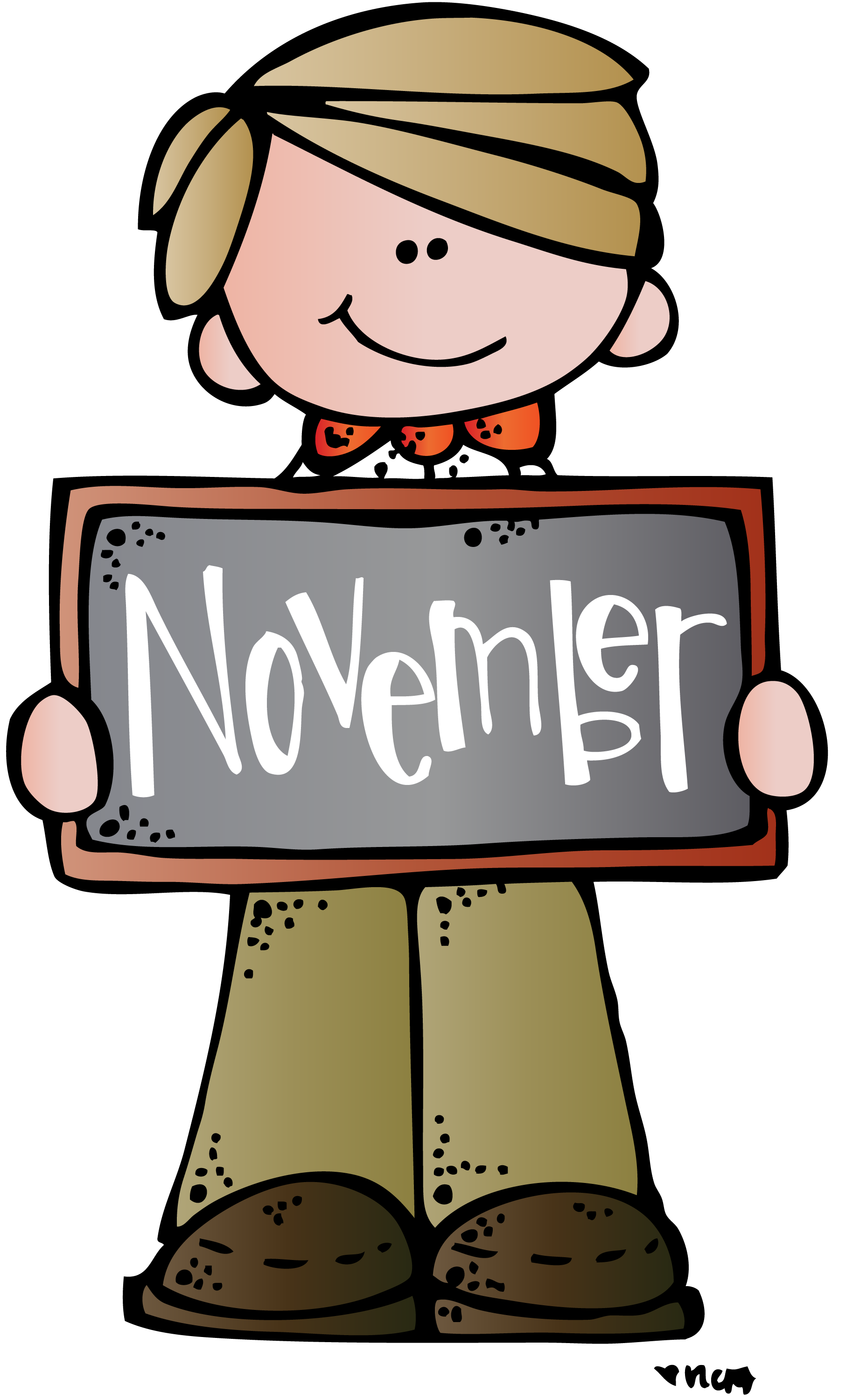 Kids november clipart clipartxtras