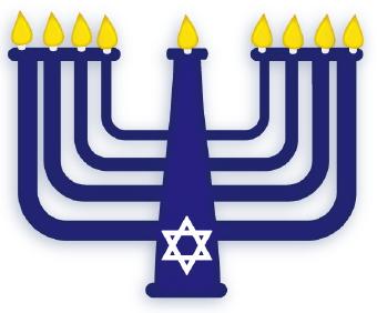 Menorah hanukkah clip art image