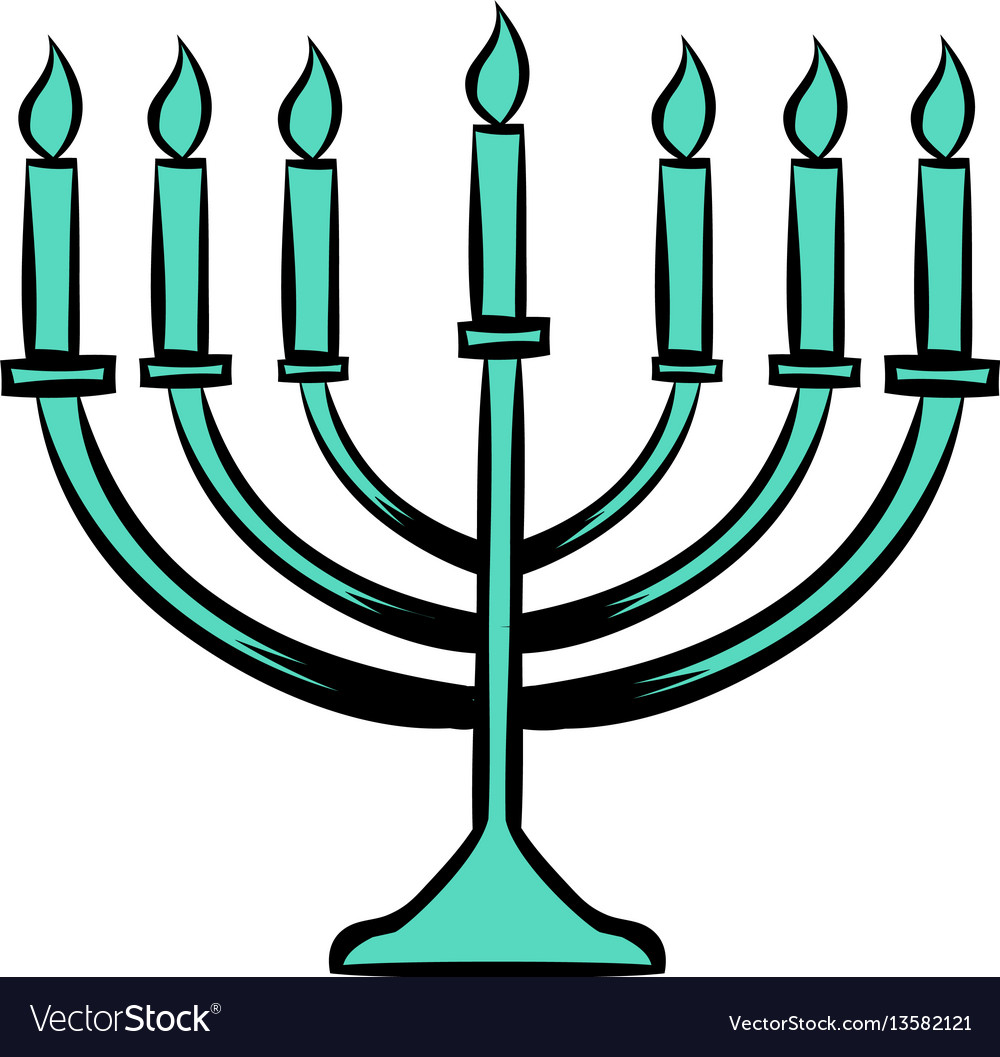 Menorah icon cartoon free vector image clip art