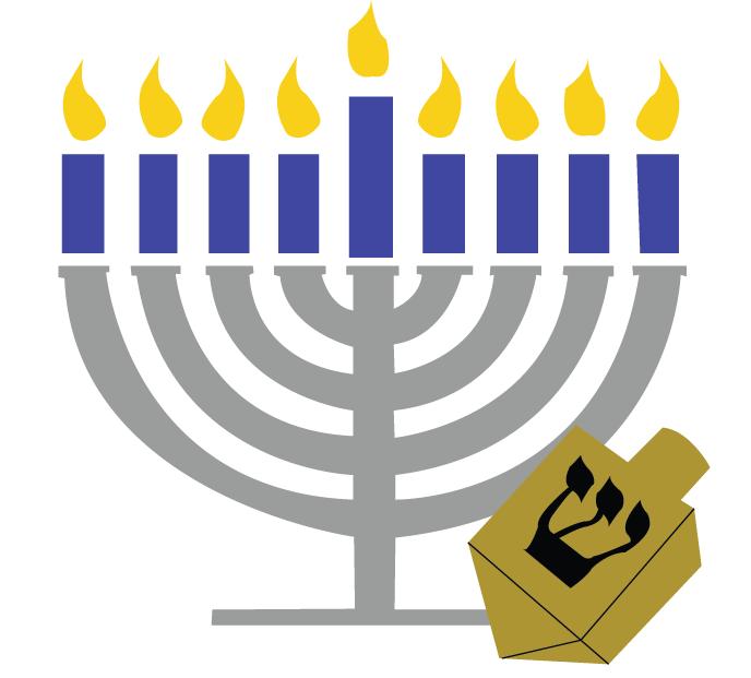 Menorah jewish symbols clipart image