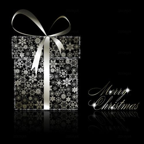 Merry christmas black and white christmas black clip art