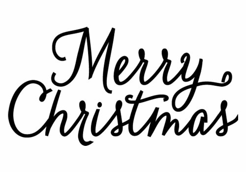 Merry christmas black and white hero arts rubber stamps merry christmas script clipart
