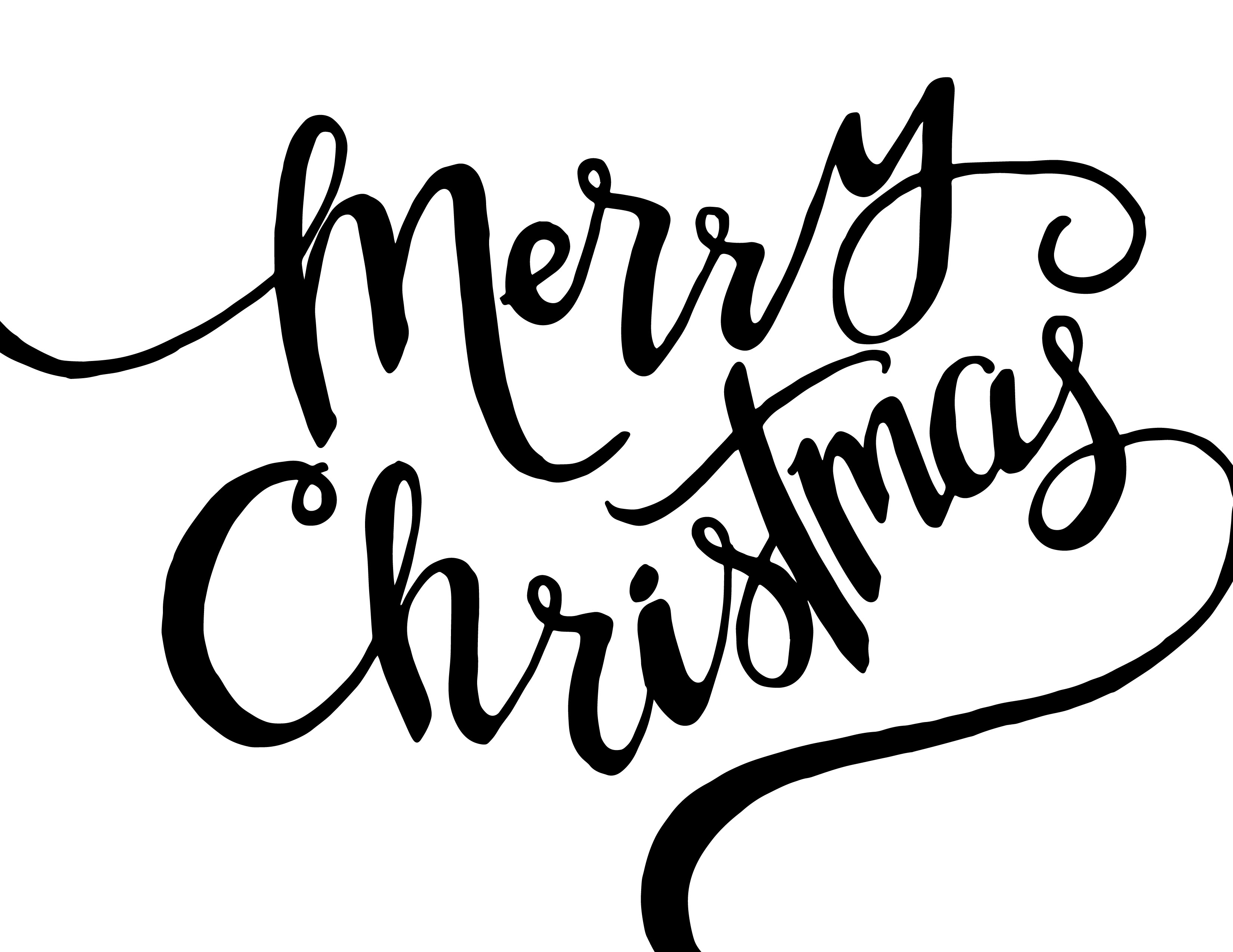 Merry christmas black and white merry christmas black images clip art