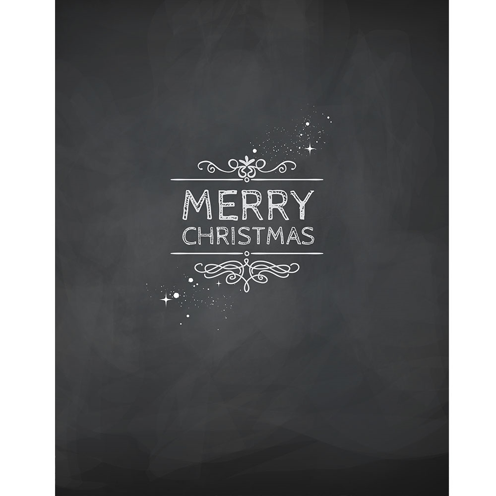 Merry christmas black and white merry christmas chalkboard printed backdrop express clipart