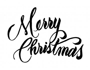 Merry christmas black and white merry christmas shiel yule clipart