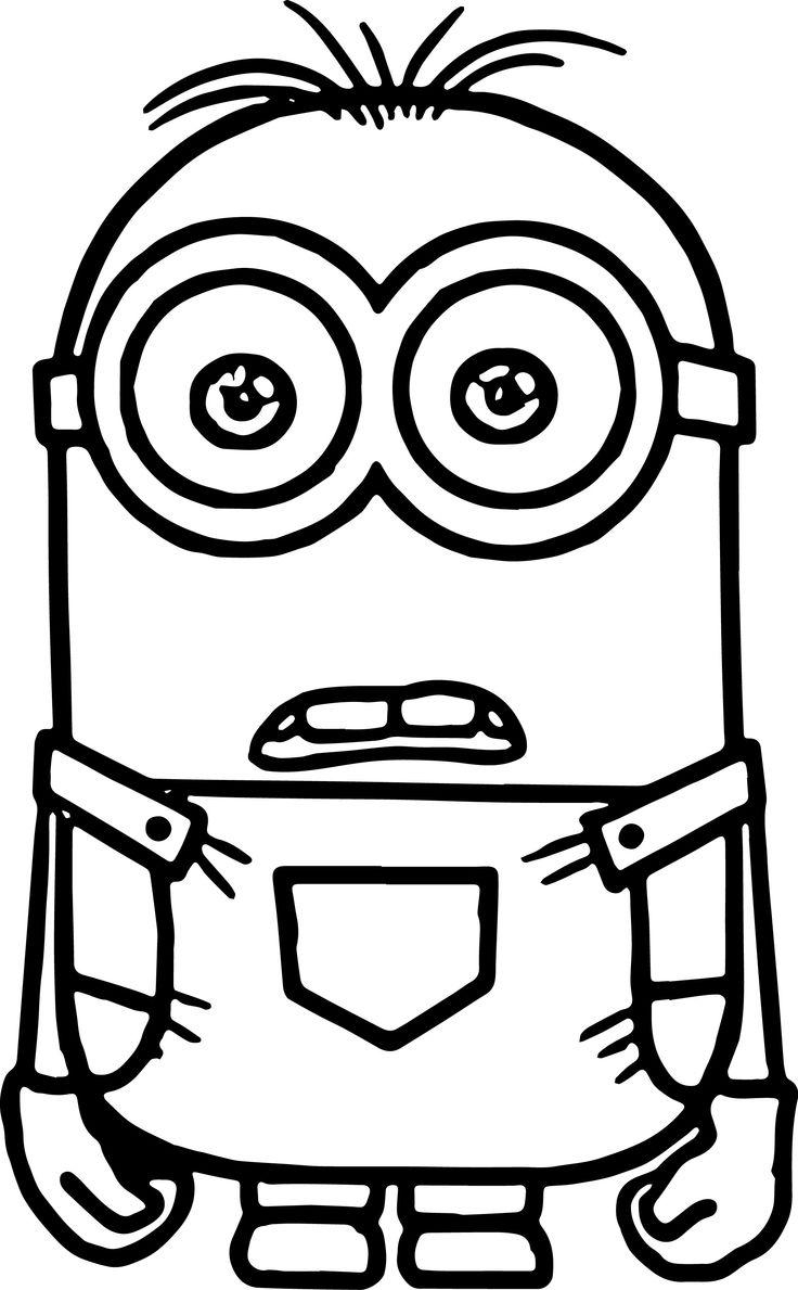 Minion black and white pic minions clipart