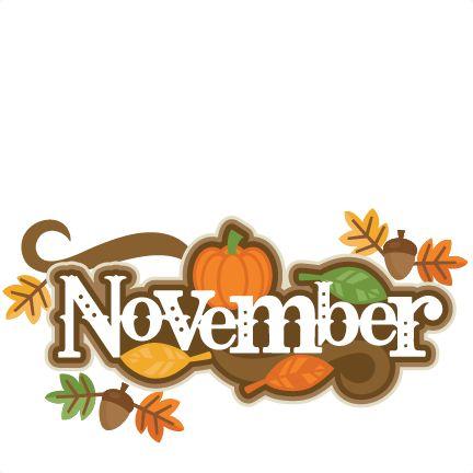 November clipart cute clipartxtras