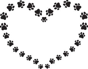 Paw print clip art ideas on dog paw prints 4 clipartandscrap