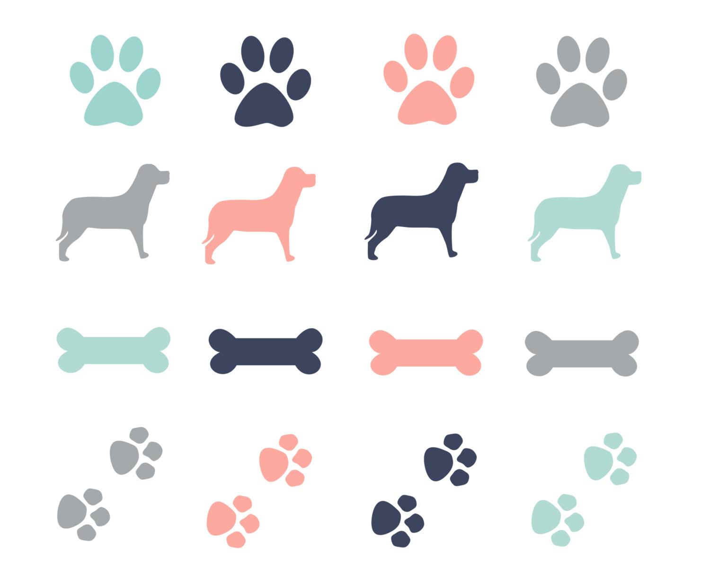 Paw prints free clipart dog paw print border 2