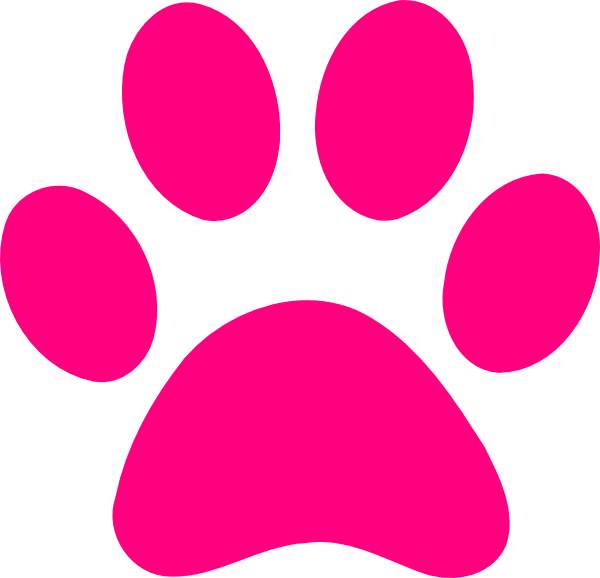 Pink dog paw print clipart cliparts and others art inspiration