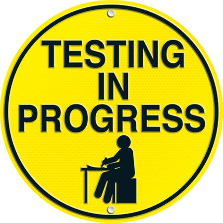 Quiet testing clipart